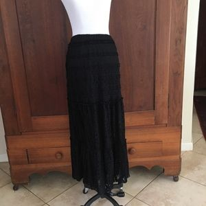 BOHO Maxi Skirt Lace Small Petite Xhilaration